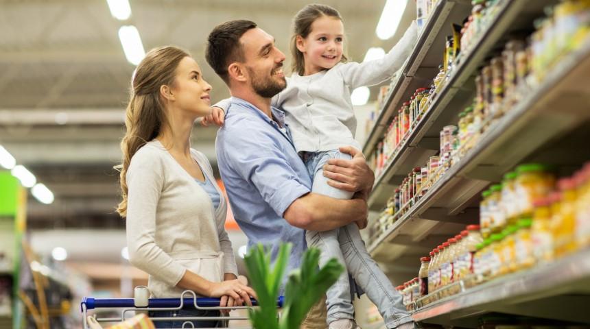 Einkaufen mit Kindern