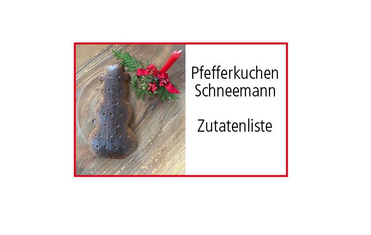Pfefferkuchen Schneemann